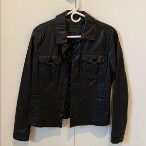 Blank nyc faux leather jean jacket